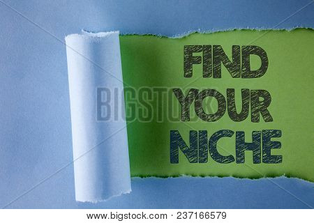 Conceptual Hand Writing Showing Find Your Niche. Business Photo Text Search For Your Field Decide Ch