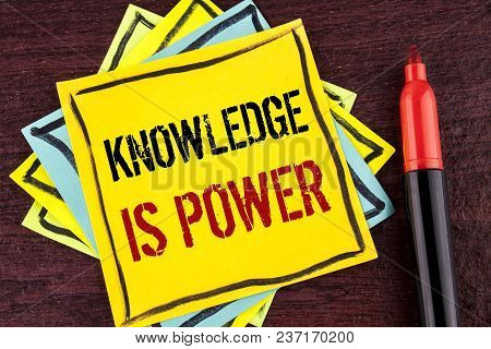 Handwriting Text Knowledge Is Power. Concept Meaning Learning Will Give You Advantage Over Others Wr