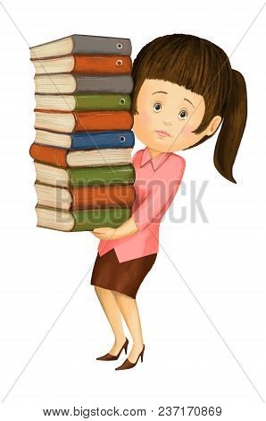 The Girl Accountant Annual Holds A Large Stack Of Reports