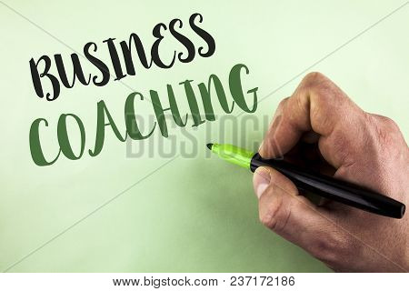 Text Sign Showing Business Coaching. Conceptual Photo Consulting Expert Your Field Experience Improv