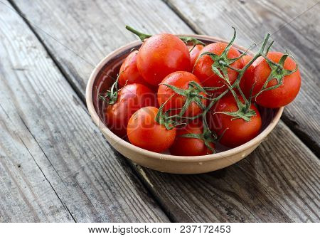 Ripe Natural Tomatoes Bunch