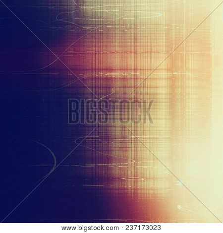 Scratched vintage colorful background, designed grunge texture. With different color patterns
