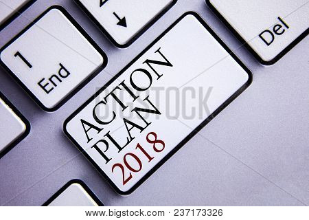Word Writing Text Action Plan 2018. Business Concept For To Do List In New Year New Year Resolution