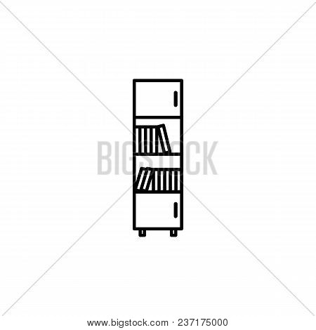 Bookcase Icon. Element Of Furniture For Mobile Concept And Web Apps. Thin Line  Icon For Website Des