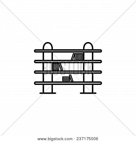 Long Bookcase Icon. Element Of Furniture For Mobile Concept And Web Apps. Thin Line  Icon For Websit