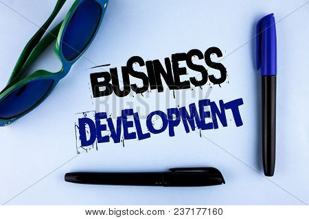 Conceptual Hand Writing Showing Business Development. Business Photo Showcasing Develop And Implemen