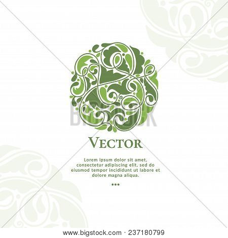 Vector Organic Emblem. Can Be Used For Organic Products, Jewelry, Beauty And Fashion Industry. Great