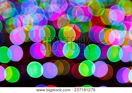 Image Of A Blurred Luminous Multicolored Abstract Background