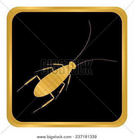 Cockroach Button On White Background. Vector Illustration.