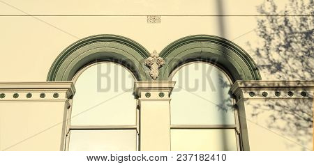 Architectural Detail Of The Historic 1881 Council Chambers Building In The City Of Wagga Wagga, New