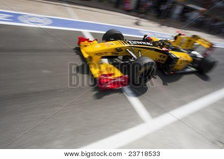 VALENCIA, SPAIN - JUNE 26: Formula 1 Valencia Street Circuit - Robert Kubica - June 26, 2010 in Valencia, Spain