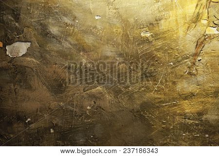 The Texture Of The Grunge Wall With Cracks