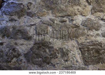 Texture Of A Stone Vintage Wall,grey Colour