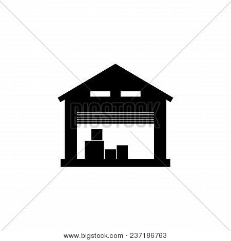 Storage Warehouse Icon. Element Of Logistics Icon. Premium Quality Graphic Design Icon. Signs And Sy