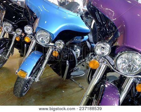 Orlando, Fl, Usa, March 05, 2011. Harley-davidson Motorcycles At Harley-davidson Motorcycle Dealersh