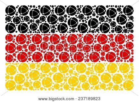 German State Flag Concept Constructed Of Internet Design Elements. Vector Internet Items Are Compose