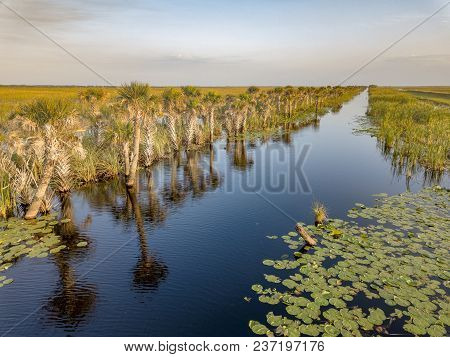 There Are Many Waterways And Canals In The Wetland Areas Of Brevard County Florida Where Boaters Use