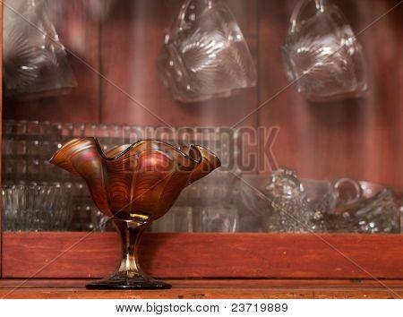 Antique Glassware Display