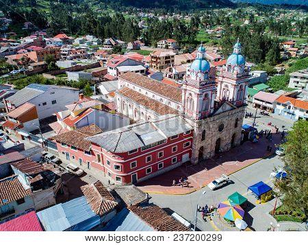 Aerial Image Of Iglesia De San Francisco De Sinincay