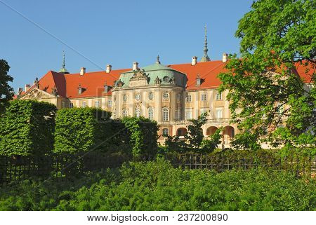 Royal Castle in Warsaw. Early morning summer view.