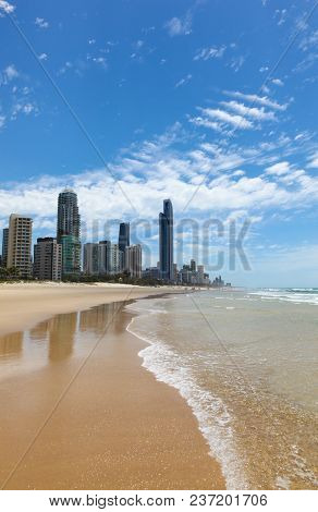 A Lovely Day At The Beach At Surfers Paradise - Gold Coast Queensland Australia. The Gold Coast Is O