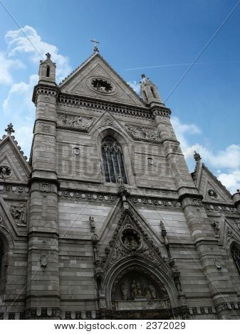 The Major Church Of Naples, Called Duomo- External View