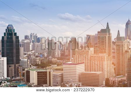 City Office Building Central Business Downtown, Cityscape Background
