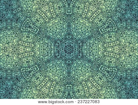 Background With Abstract Concentric Pattern, Vintage Effect