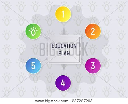 The Education Plan. Infographics Vector Illustration. A Modern Presentation.
