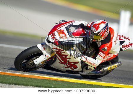 VALENCIA, SPAIN - NOVEMBER 6: Fonsi Nieto in motogp Grand Prix of the Comunitat Valenciana, Ricardo Tormo Circuit of Cheste, Spain on november 6, 2010