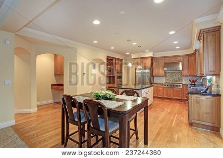 Luxury Kitchen Room And Dining Area.