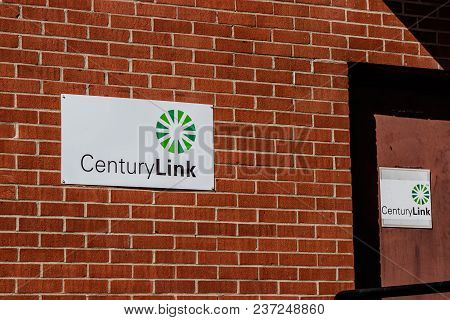 Greenville - Circa April 2018: Centurylink Central Office. Centurylink Offers Data Services To Custo