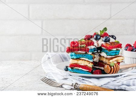 Independence Day Breakfast Idea With Pancakes