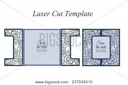 Paper Cut Out Card. Laser Cut Pattern For Invitation Card For Wedding. Paper Cutouts. Wedding Invita