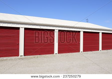Numbered Self Storage And Mini Storage Garage Units X