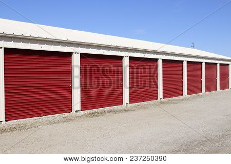 Numbered Self Storage And Mini Storage Garage Units Xi