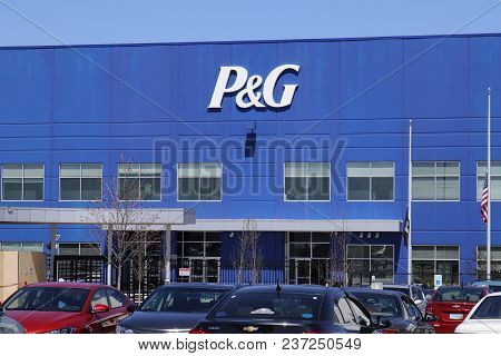 Vandalia - Circa April 2018: Procter & Gamble Union Distribution Center. P&g Is An American Multinat