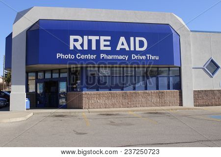 Union City - Circa April 2018: Rite Aid Drug Store And Pharmacy. In 2018, Rite Aid Transferred 625 S