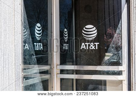 Dayton - Circa April 2018: Dayton - Circa April 2018: At&t Downtown Office. At&t Now Offers Iptv, Vo