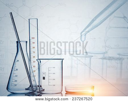 Laboratory Glassware , Science Research,science Background.