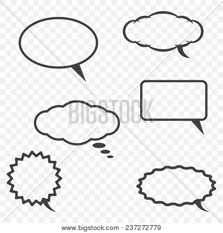 A Cloud For Communication In Various Forms On A Transparent Background With The Ability To Edit The