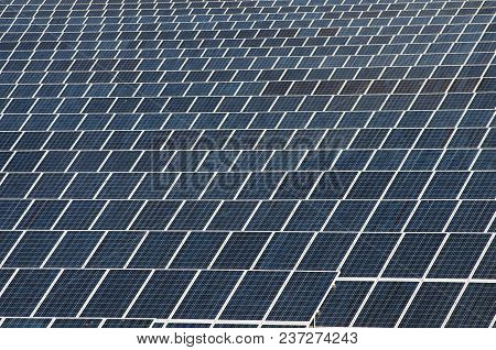 Field Of Solar Panels For Electricity Production