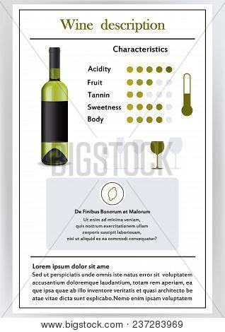 Brochure, Form Describing Characteristics Of White Wine.feed Temperature, Brief Description, History