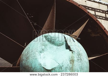 Old Rusty Steel Turbine Of Coking Plant On The Grounds Of The Zeche Zollverein