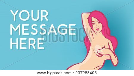 Banner For Beauty Saloon Or Web Site's Header With Order - Vector Illustration In Vibrant Colors.