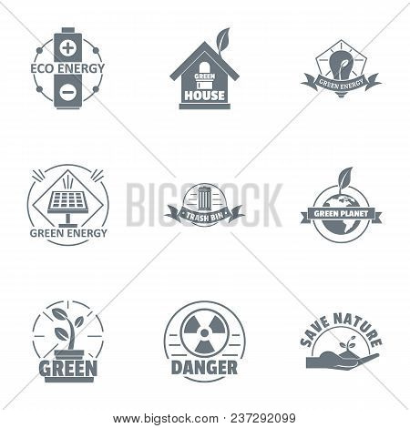 Environmental Logo Set. Simple Set Of 9 Environmental Vector Logo For Web Isolated On White Backgrou