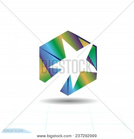 Stylish White Comet And Fire In The Cube, Success Trail Logo For Creative And Successful Business Co