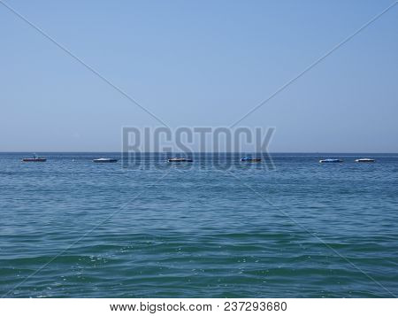 Panorama Of Water At Bay Of Acapulco City In Mexico And Waves Of Pacific Ocean Landscapes With Clear