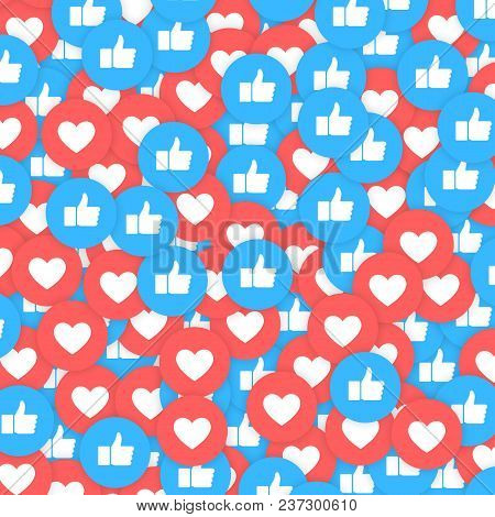 Social Network Icons Abstract Get More Likes. Background For Web, Internet, App, Advertisement, Prom
