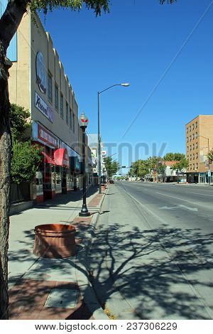 Roswell, New Mexico - October 06: Main Street In Roswell With Alien Gift Shops 2013
